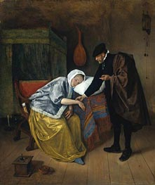 Jan Steen | The Sick Woman, c.1665 | Giclée Canvas Print