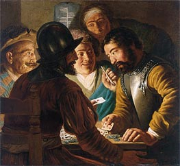 Jan Lievens | The Card Players, c.1622/24 | Giclée Canvas Print