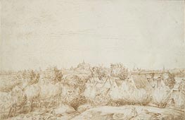 Jan Lievens | Landscape with a Distant View of Haarlem, undated | Giclée Paper Print