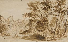 Jan Lievens | Forest Landscape with a Pond, c.1650/70 | Giclée Paper Print