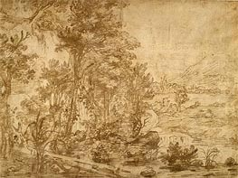 Jan Lievens | Wooded Landscape, undated | Giclée Paper Print