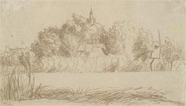 Jan Lievens | View of a Village, undated | Giclée Paper Print