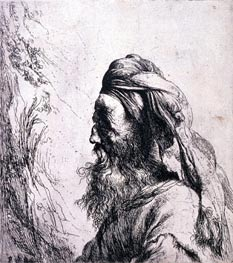 Jan Lievens | Head of an Oriental, undated | Giclée Paper Print