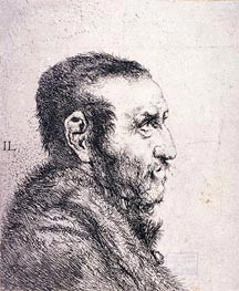 Jan Lievens | Bust of a Man, undated | Giclée Paper Print