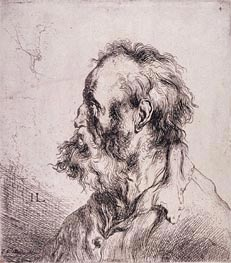 Jan Lievens | Bust of an Old Man, undated | Giclée Paper Print