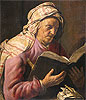 Lievens - Old Woman Reading - Art Print / Posters