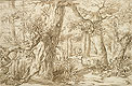 Lievens - Forest Interior with Draftsman - Art Print / Posters