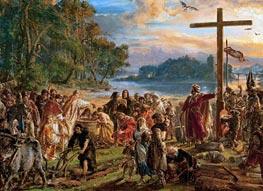 Jan Matejko | Baptism of Poland, 1889 | Giclée Canvas Print