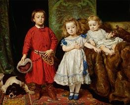 Jan Matejko | Portrait of the Artist's Children: Tadeusz, Helena and Beata | Giclée Canvas Print