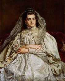 Jan Matejko | Portrait of the Artist's Wife Teodora, 1879 | Giclée Canvas Print