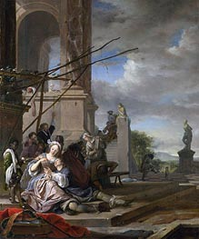 Jan Weenix   An Italian Courtyard   Giclée Canvas Print