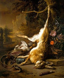 Jan Weenix | Dead Hare with Partridges with Instruments of the Chase | Giclée Canvas Print