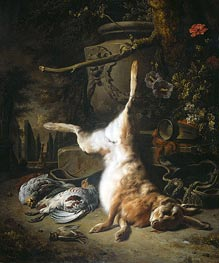 Jan Weenix | Still Life with Hare and other Hunting Booty, 1697 | Giclée Canvas Print