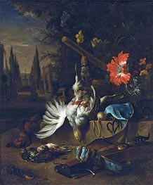 Jan Weenix | A Hunting Still Life with Partridges, undated | Giclée Canvas Print