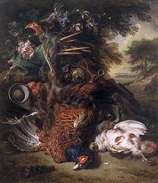 Jan Weenix | Hunting Still Life with Dead Birds, c.1680 | Giclée Canvas Print