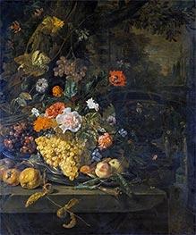 Jan Weenix | Flowers and Fruit | Giclée Canvas Print
