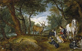 Jan Bruegel the Elder | Saint Hubert's Vision, c.1615/30 | Giclée Canvas Print
