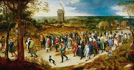 Jan Bruegel the Elder | Wedding Procession to the Church, undated | Giclée Canvas Print