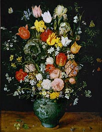Jan Bruegel the Elder | Flowers in a Blue Vase, 1608 | Giclée Canvas Print