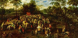 Jan Bruegel the Elder | Wedding Banquet, 1623 | Giclée Canvas Print