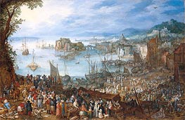 Jan Bruegel the Elder | Large Fish Market, 1603 | Giclée Canvas Print
