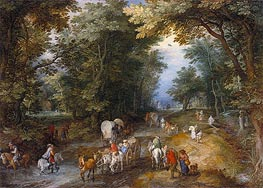 Jan Bruegel the Elder | Busy Forest Track, 1605 | Giclée Canvas Print