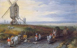 Jan Bruegel the Elder | Windmills on a Broad Plain, 1611 | Giclée Canvas Print
