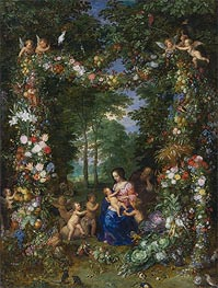Holy Family, c.1620 by Jan Bruegel the Elder | Giclée Canvas Print
