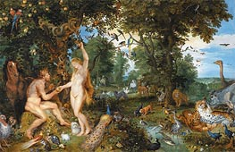 The Garden of Eden with the Fall of Man, c.1615 by Jan Bruegel the Elder | Giclée Canvas Print