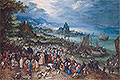 Bruegel the Elder - Harbour Scene with Christ preaching - Art Print / Posters