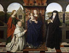 Jan van Eyck | Virgin and Child, with Saints and Donor, c.1441 | Giclée Canvas Print