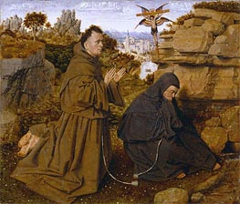 Jan van Eyck | Saint Francis of Assisi Receiving the Stigmata, c.1438/40 | Giclée Canvas Print