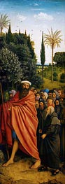 Jan van Eyck | The Pilgrims (The Ghent Altarpiece), 1432 | Giclée Canvas Print