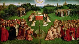 Jan van Eyck | The Adoration of the Mystic Lamb (The Ghent Altarpiece) | Giclée Canvas Print