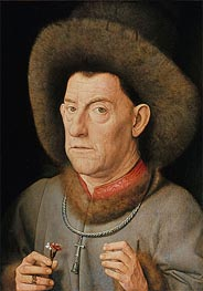 Jan van Eyck | Man with Pinks, undated | Giclée Canvas Print