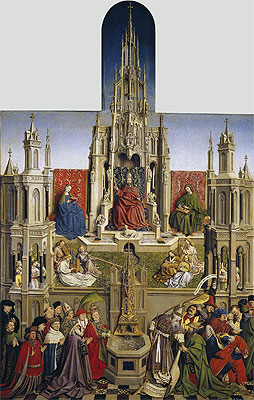 The Fountain of Grace and the Triumph of the Church over the Synagogue, 1430 | Jan van Eyck | Painting Reproduction