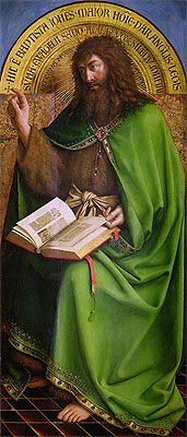 John the Baptist (The Ghent Altarpiece), 1432 | Jan van Eyck | Painting Reproduction