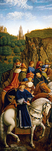 The Just Judges (The Ghent Altarpiece), 1432 | Jan van Eyck | Painting Reproduction