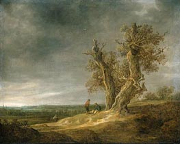 Jan van Goyen | Landscape with Two Oaks, 1641 | Giclée Canvas Print