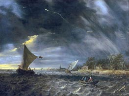 Jan van Goyen | The Thunderstorm, 1641 | Giclée Canvas Print