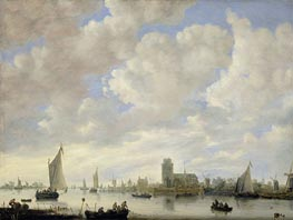 Jan van Goyen | View of the Merwede off Dordrecht, c.1660 | Giclée Canvas Print