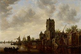 River Landscape with the Pellecussen Gate near Utrecht, 1648 by Jan van Goyen | Giclée Canvas Print