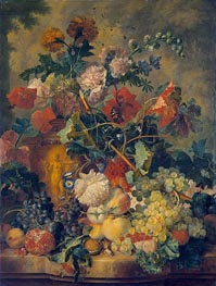 Jan van Huysum | Flowers and Fruit, 1723 | Giclée Canvas Print
