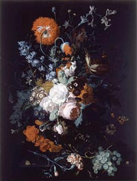 Jan van Huysum | Still Life of Flowers and Fruit, c.1716/17 | Giclée Canvas Print