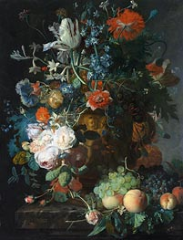 Jan van Huysum | Still Life with Flowers and Fruit, undated | Giclée Canvas Print