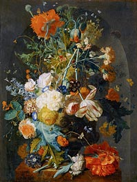 Jan van Huysum | Vase of Flowers in a Niche, c.1725/35 | Giclée Canvas Print