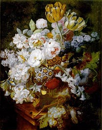 Still Life with Flowers, undated by Jan van Huysum | Giclée Canvas Print