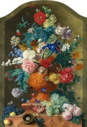 Jan van Huysum | Flowers in a Terracotta Vase, c.1736/37 | Giclée Canvas Print