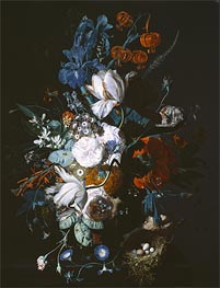 Vase with Flowers, c.1720 by Jan van Huysum | Giclée Canvas Print
