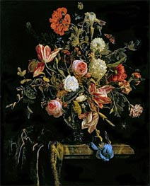 Flower Still Life, 1706 by Jan van Huysum | Giclée Canvas Print